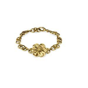 NIB GUCCI Metal Bracelet With Floral Detail